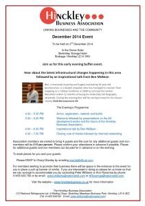 HBA Invitation - 2nd December 2014