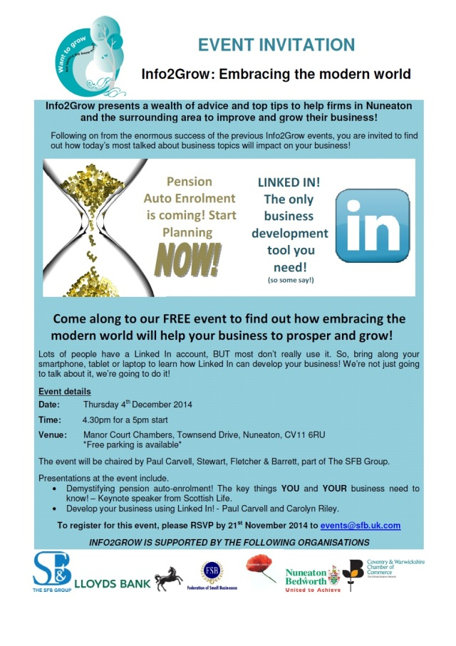 Info2Grow - Embracing the Modern World Invitation